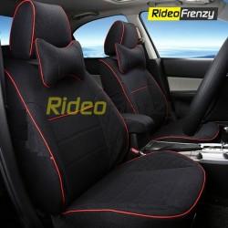 Buy Summer Breathable Automotive Linen Car Seat Covers | 16 mm Evlon Foam | Diamond Black
