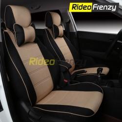 Buy Summer Breathable Automotive Linen Car Seat Covers | 16 mm Evlon Foam | Cresent Beige