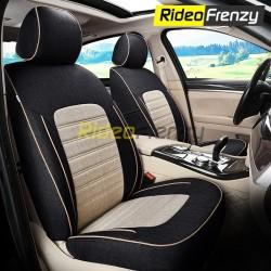Buy Summer Breathable Automotive Linen Car Seat Covers | 16 mm Evlon Foam | Galaxy Black