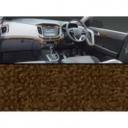 Buy Hyundai Creta Wooden Dashboard Interior Kit | Walnut Burl Design | Scratch resistant