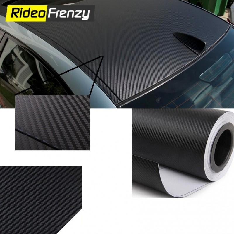 Buy Best Quality 3D Carbon Fiber Roof Wrap Sheet | Bubble Free