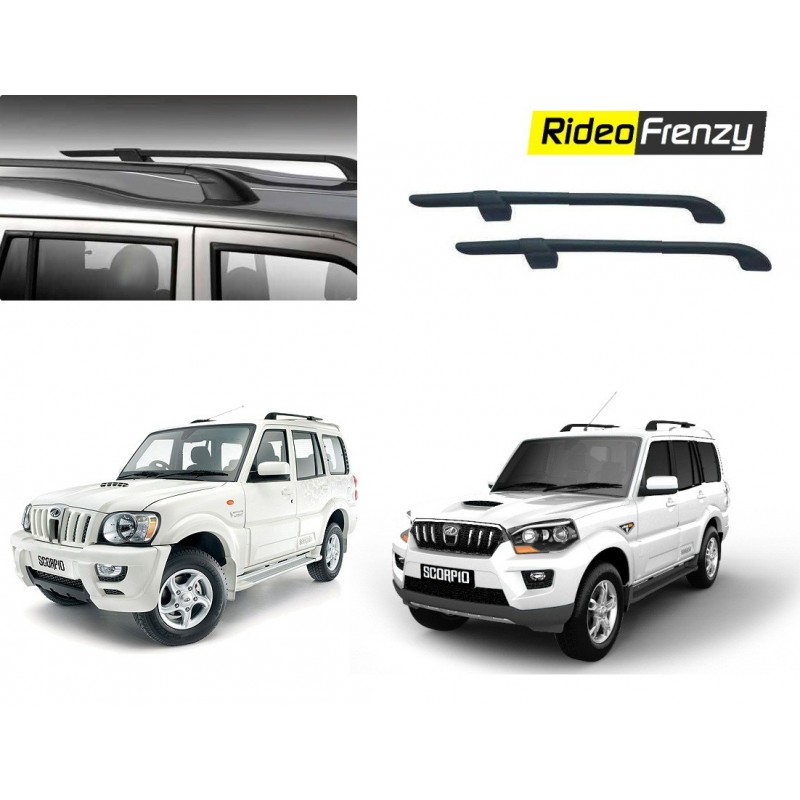 Buy Mahindra Scorpio Original Roof Rails 1799 Drill Free Abs Black