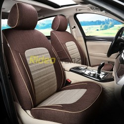 Buy Summer Breathable Automotive Linen Car Seat Covers | Trending Coffee Brown