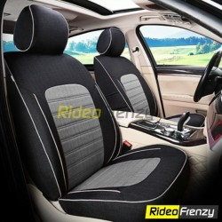 Buy Summer Breathable Automotive Linen Car Seat Covers | Trending Black Grey