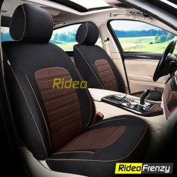 Buy Summer Breathable Automotive Linen Car Seat Covers | Trending Black Brown