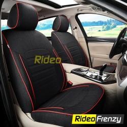 Buy Summer Breathable Automotive Linen Car Seat Covers | 16 mm Evlon Foam | Premium Black