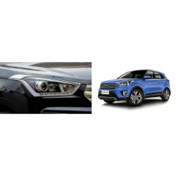 Buy Hyundai Creta Chrome HeadLight covers at low prices-RideoFrenzy