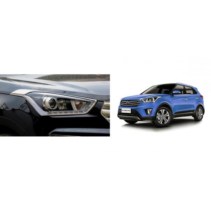 Buy Hyundai Creta Chrome HeadLight covers at low prices-RideoFrenzy