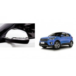 Buy Hyundai Creta Chrome Side Mirror covers at low prices-RideoFrenzy
