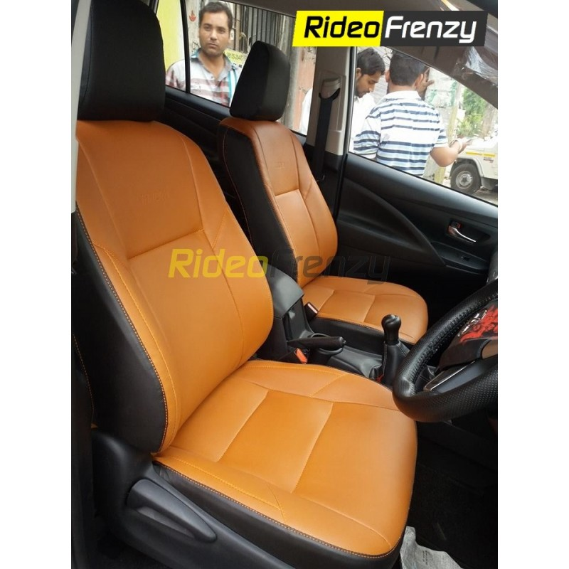 Buy Innova Crysta Tan Italian Leather Seat Covers Bucket Fit