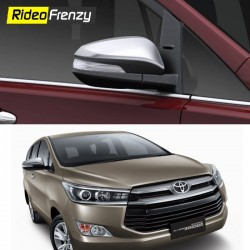 Buy Innova Crysta Chrome Side Mirror Covers online at low prices-Rideofrenzy