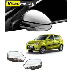 Buy Maruti Alto 800 Chrome Side Mirror Covers at low prices-Rideofrenzy