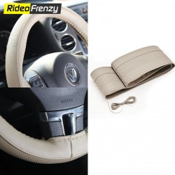 Original Pure Leather Beige Steering Cover