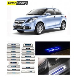 Buy Maruti Swift Dzire Door Sill Plate with blue LED online at low prices-RideoFrenzy