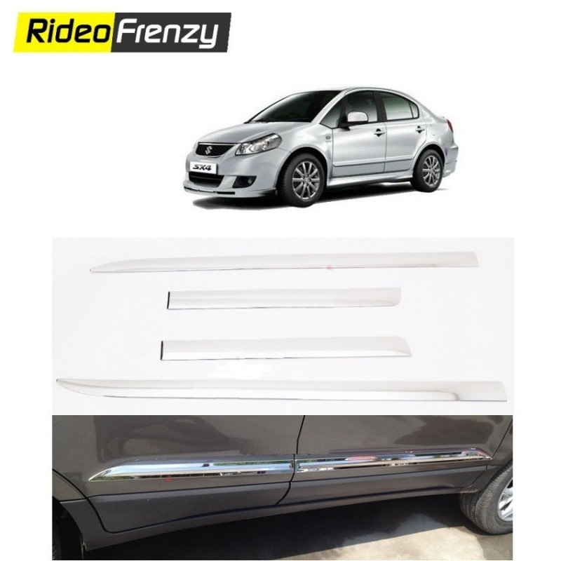 Buy Triple Layered Maruti SX4 Chrome Side Beadiing at low prices-RideoFrenzy