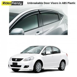 Buy Unbreakable Maruti SX4 Door Visors in ABS Plastic at low prices-RideoFrenzy