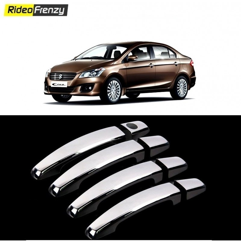 Buy Triple Layer Maruti Ciaz Door Chrome Handle Covers at low prices-RideoFrenzy