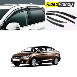Maruti Ciaz Chrome Line Door Visors in ABS Plastic