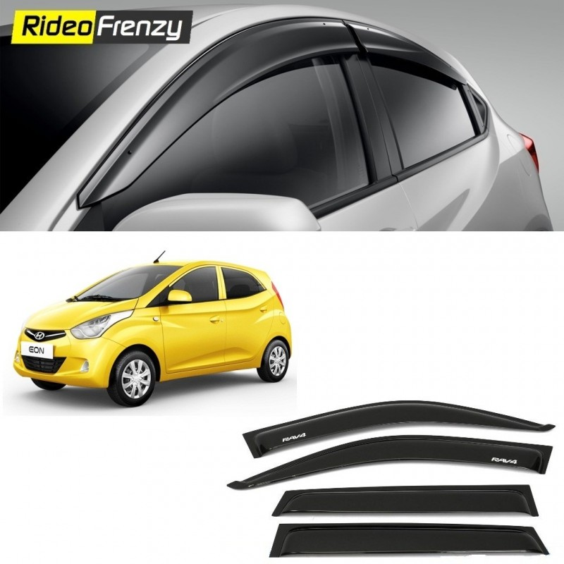 Buy Unbreakable Hyundai Eon Door Visors in ABS Plastic at low prices-RideoFrenzy