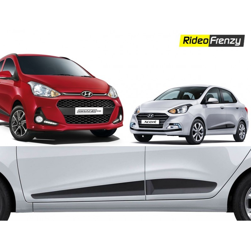 Buy Original Hyundai Grnad i10 & Xcent Matt Black Side Beading at low prices-RideoFrenzy