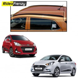 Buy Hyundai Grand i10 & Xcent Original Roof Rails @1999|Drill Free|Black|ABS Plastic