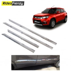 Buy Stainless Steel Vitara Brezza Chrome Side Beading online at low prices-RideoFrenzy