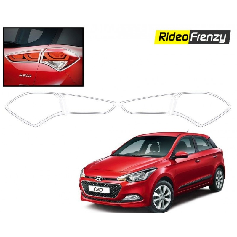 Buy Premium Hyundai Elite i20 Chrome Tail Light Covers at low prices-RideoFrenzy