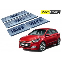 Buy Hyundai Elite i20 Stainless Steel Door Scuff Sill Plate with blue LED at low prices-RideoFrenzy