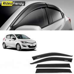 Unbreakable Hyundai i20 Door Visors in ABS Plastic