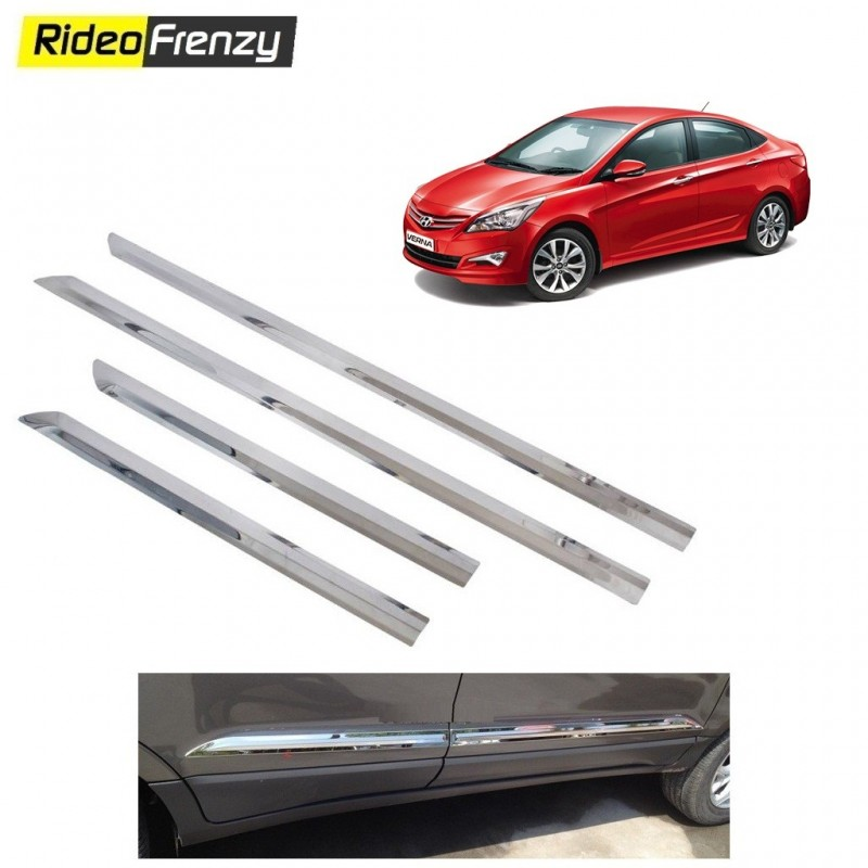 Buy Stainless Steel Hyundai Verna Chrome Side Beading at low prices-RideoFrenzy