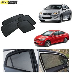 Buy Hyundai Verna Fluidic Magnetic Car Window Sunshades at low prices-RideoFrenzy