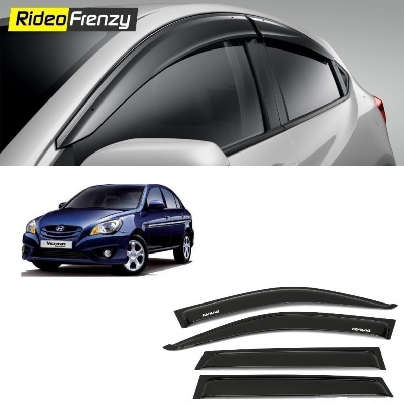 Buy Injected Molded Hyundai Verna Door Visors at low prices-RideoFrenzy