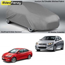 Buy Heavy Duty Double Stiching Hyundai Verna Body Covers at low prices-RideoFrenzy
