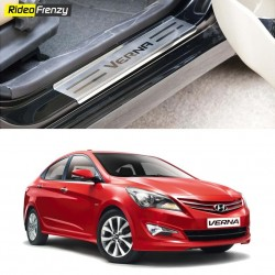 Buy Hyundai Verna Fluidic Stainless Steel Door Scuff Sill Plates at low prices-RideoFrenzy