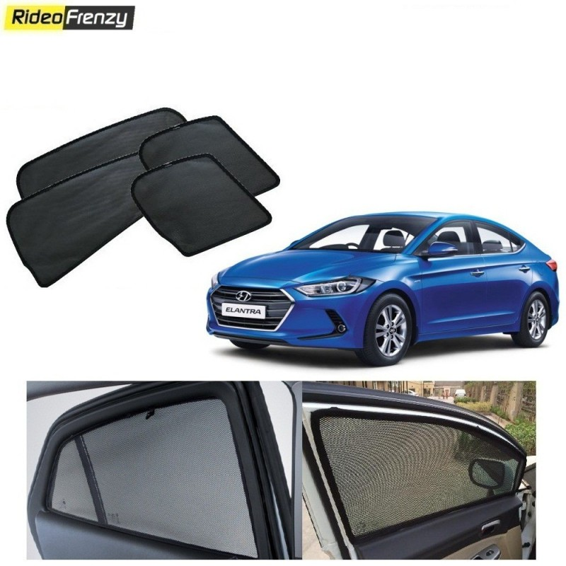 Buy Hyundai Elantra Magnetic Car Window Sunshades at low prices-RideoFrenzy