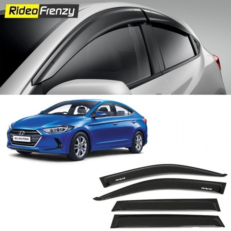 Buy Unbreakable Hyundai Hyundai Elantra Door Visors in ABS Plastic at low prices-RideoFrenzy