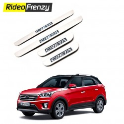 Buy Hyundai Creta Stainless Steel Door Scuff Sill Plates at low prices-RideoFrenzy