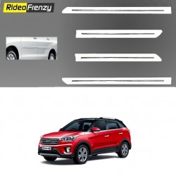 Buy Hyundai Creta White Chromed Side Beading at low prices-RideoFrenzy