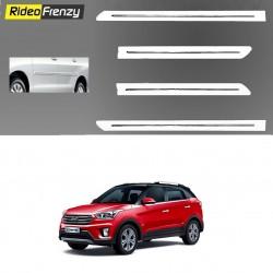Buy Hyundai Creta White Chromed Side Beading at low prices-RideoFrenzy