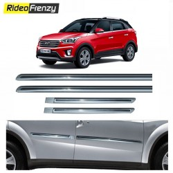 Buy Hyundai Creta Silver Chromed Side Beading at low prices-RideoFrenzy