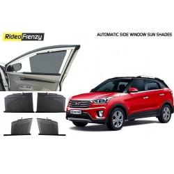 Buy Hyundai Creta Automatic Side Window Sun Shades at low prices-RideoFrenzy