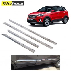 Buy Triple layer Hyundai Creta Chrome Side Beading at low prices-RideoFrenzy