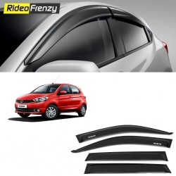 Buy Unbreakable Tata Tiago Door Visors in ABS Plastic at low prices-RideoFrenzy