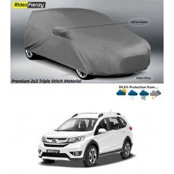 Buy Premium Fabric Honda BRV Body Cover with Side Mirror Pockets at low prices-RideoFrenzy