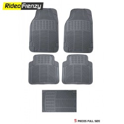 Ruf & Tuf Modesto Gray Rubber Floor Mats-5 pieces