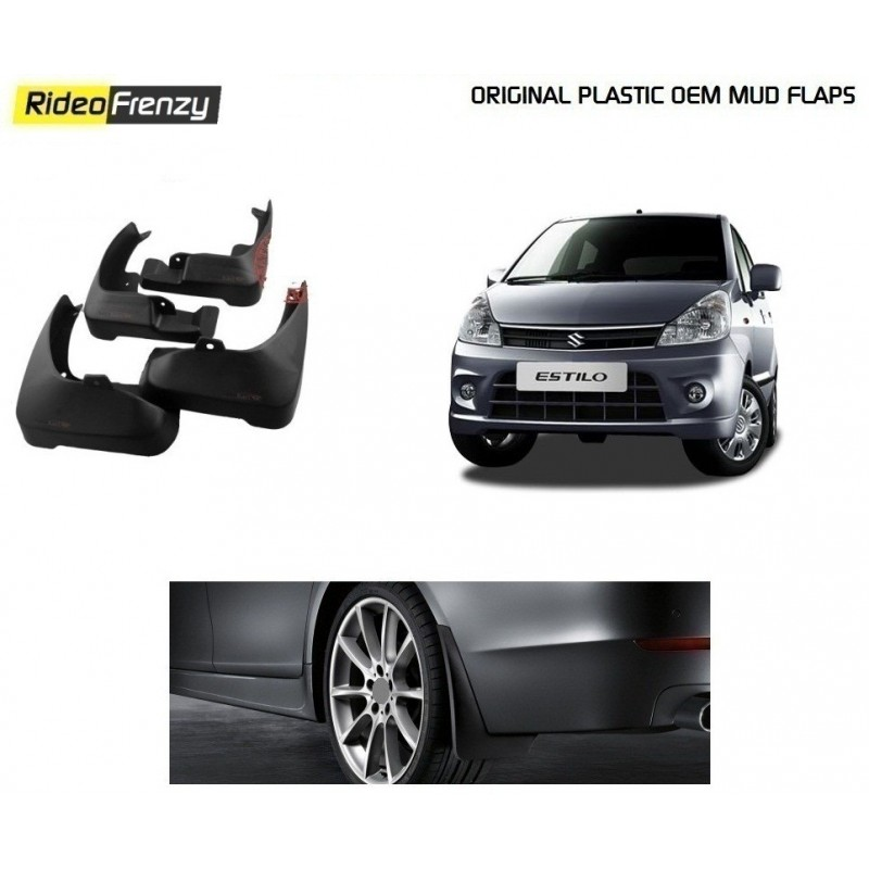 Buy Plastic OEM Maruti Zen Estilo Mud Flaps at low prices-RideoFrenzy