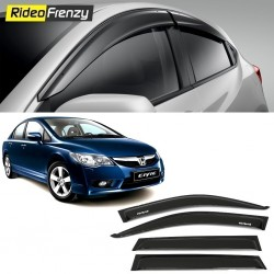 Buy Unbreakable Honda Civic Door Visors in ABS Plastic at low prices-RideoFrenzy