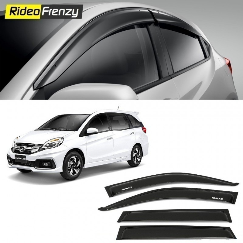 Buy Unbreakable Honda Mobilio Door Visors In Abs Plastic At Low