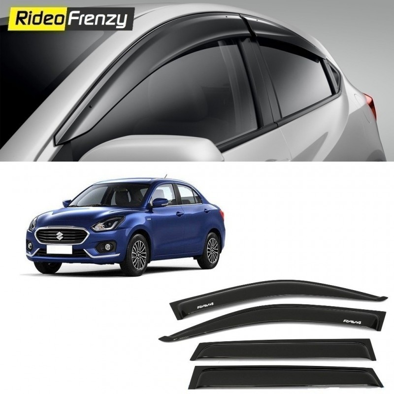 Buy Maruti Suzuki Dzire 2017 Door Visors | ABS Plastic | Unbreakable  Injection Molding