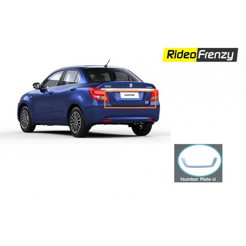 Buy Maruti Suzuki Dzire 2017 Chrome License Plate Garnish